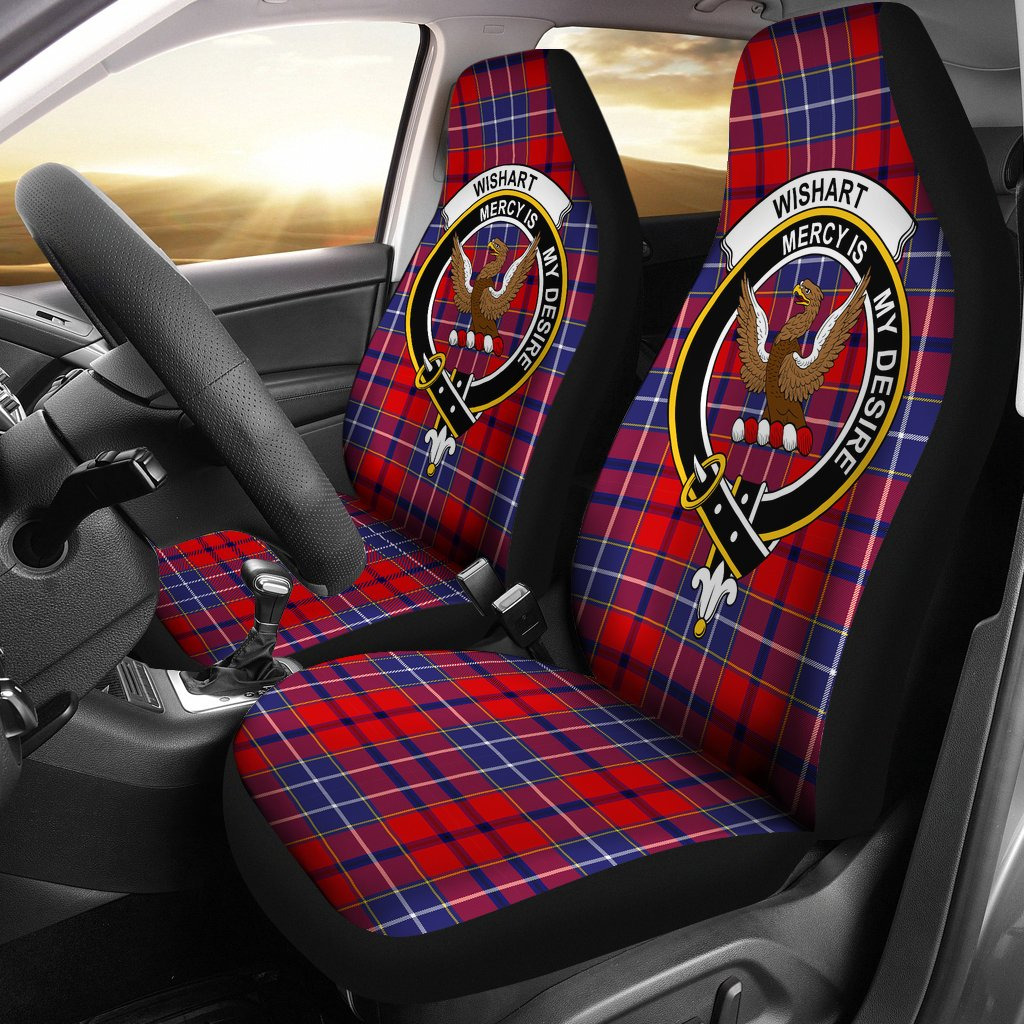 Wishart Dress Clan Badge Tartan Car Seat Cover