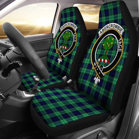 Image of Abercrombie Clan Badge Tartan Car Seat Cover
