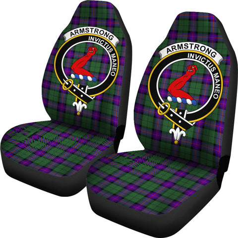 Image of Armstrong Clan Badge Tartan Car Seat Cover H01