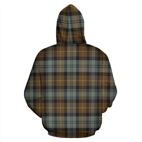 Image of Gordon Weathered Tartan All Over Print Hoodie