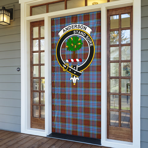 Anderson Modern Clan Badge Tartan Door Sock H01
