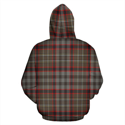 Image of Nicolson Hunting Weathered Tartan All Over Zip Hoodie