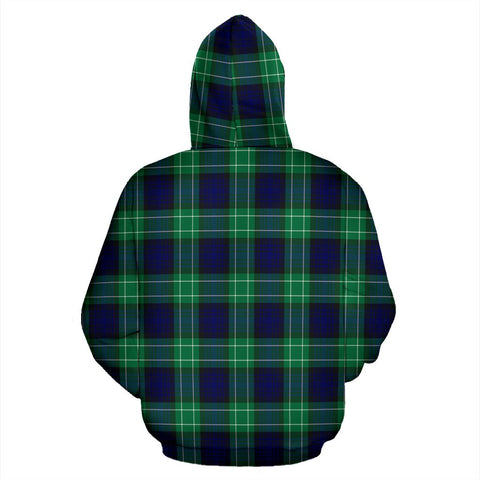 Image of Abercrombie Tartan All Over Print Hoodie
