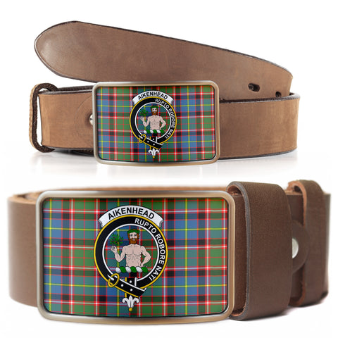 Aikenhead Clan Badge Tartan Belt Buckle H01