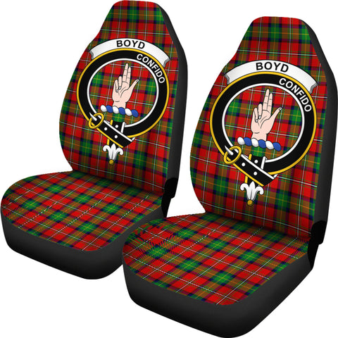 Boyd Clan Badge Tartan Car Seat Cover H01