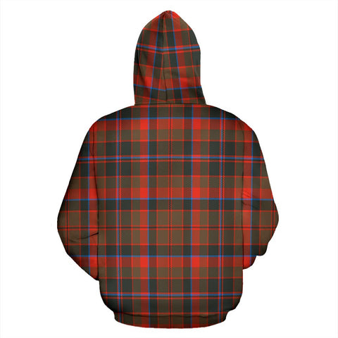 Image of Cumming Hunting Weathered Tartan All Over Print Hoodie
