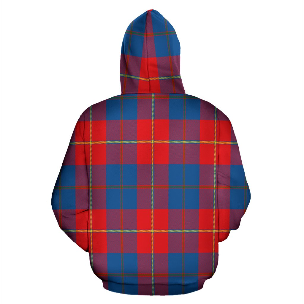 Galloway Red Tartan All Over Zip Hoodie