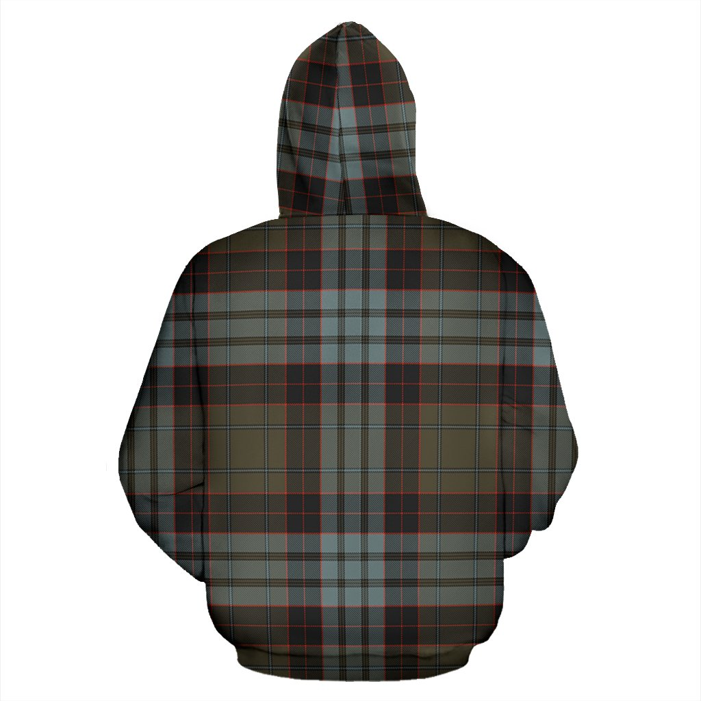 Stewart Old Weathered Tartan All Over Zip Hoodie