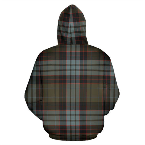 Image of Stewart Old Weathered Tartan All Over Zip Hoodie