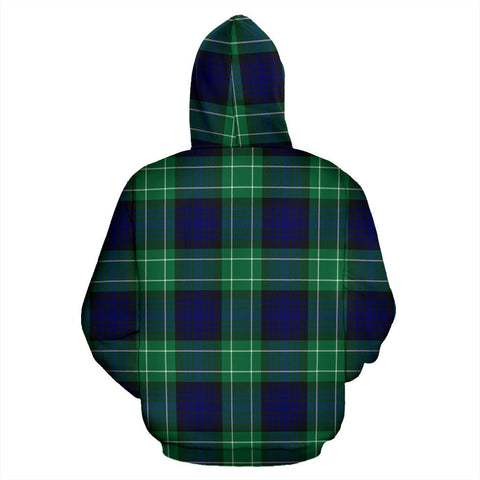 Abercrombie Tartan All Over Print Hoodie H01