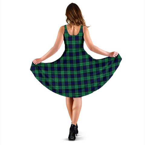 Image of Abercrombie Tartan Midi Dress