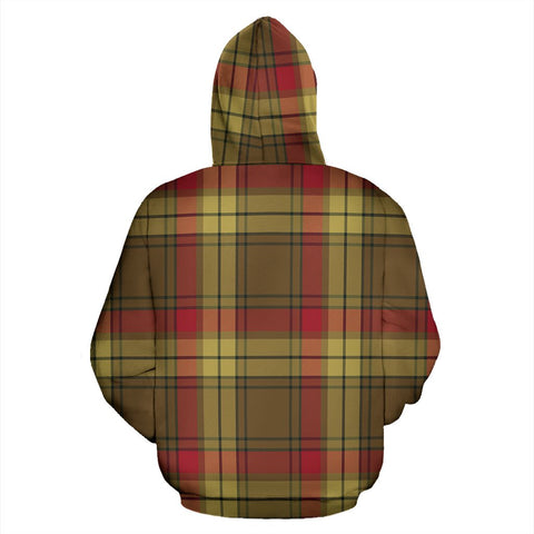 Image of MacMillan Old Weathered Tartan All Over Print Hoodie