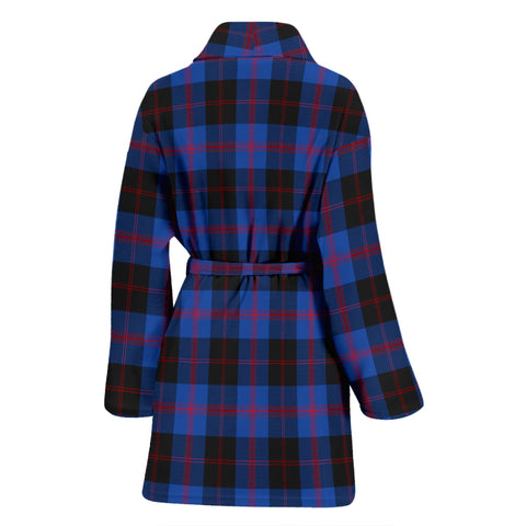 Angus Modern Tartan Women's Bathrobe H01
