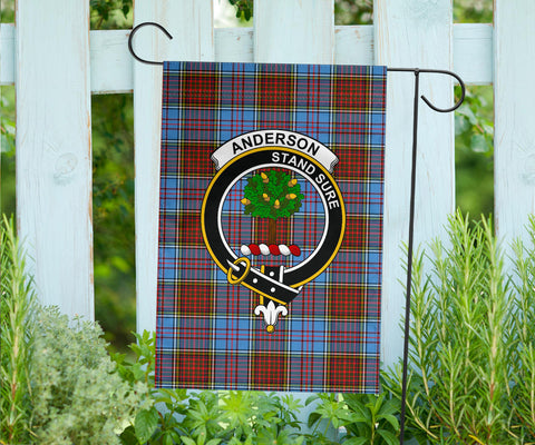 Anderson Clan Badge Tartan Garden Flag H01