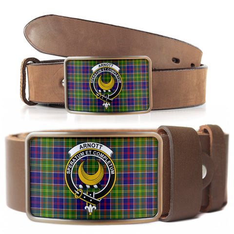 Image of Arnott Clan Badge Tartan Belt Buckle H01