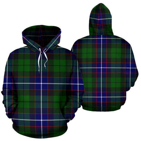 Image of Russell Tartan All Over Print Hoodie