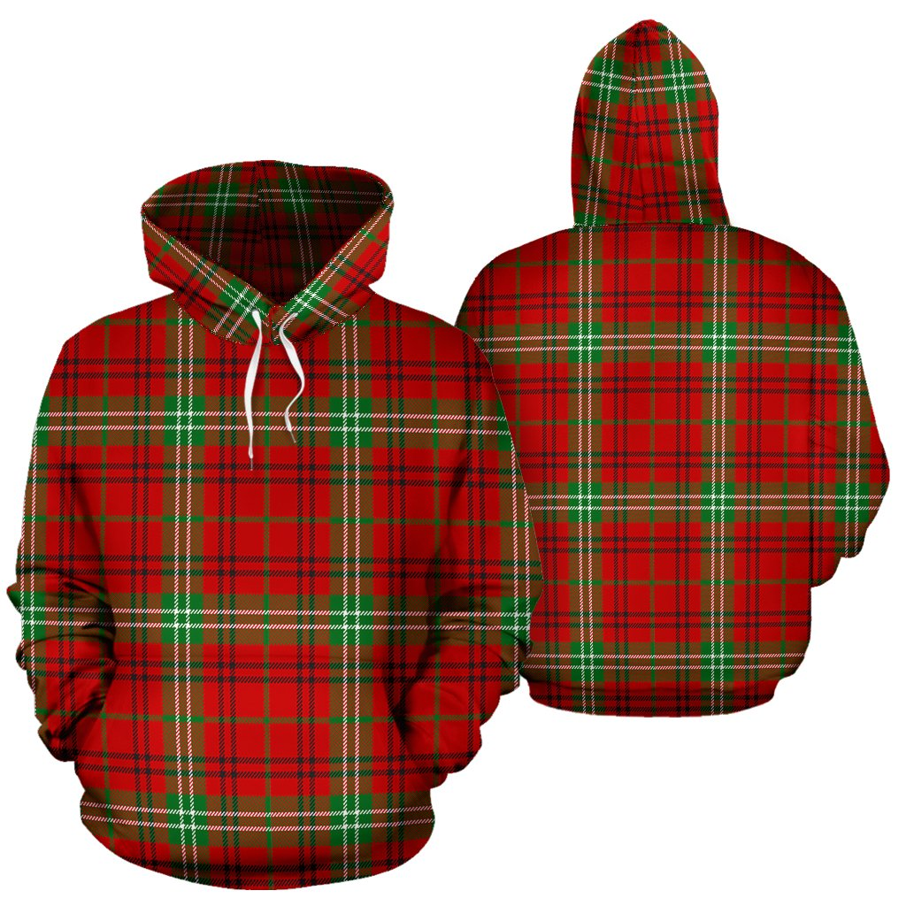 Morrison Red Modern Tartan All Over Print Hoodie
