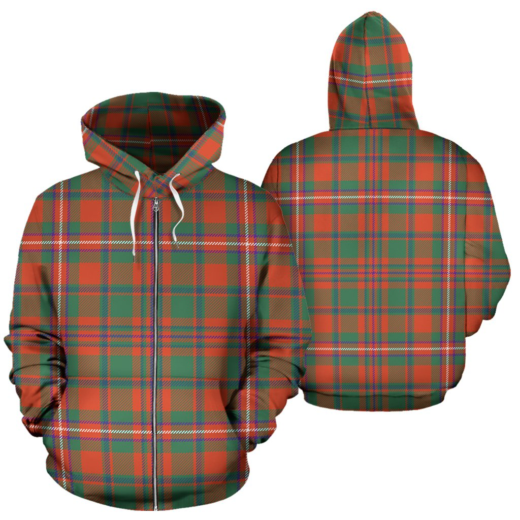MacKinnon Ancient Tartan All Over Zip Hoodie