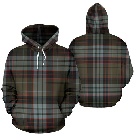 Image of Stewart Old Weathered Tartan All Over Print Hoodie