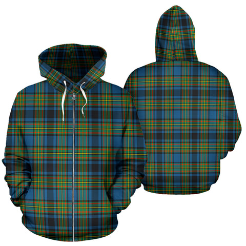 Gillies Ancient Tartan All Over Zip Hoodie H01