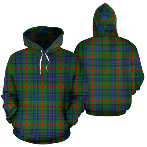 Image of Aiton Tartan All Over Print Hoodie