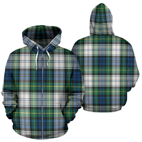 Image of Gordon Dress Ancient Tartan All Over Zip Hoodie