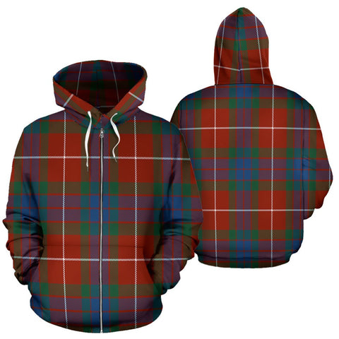 Image of Fraser Ancient Tartan All Over Zip Hoodie