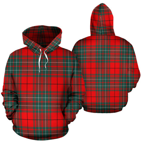 Image of Cumming Modern Tartan All Over Print Hoodie
