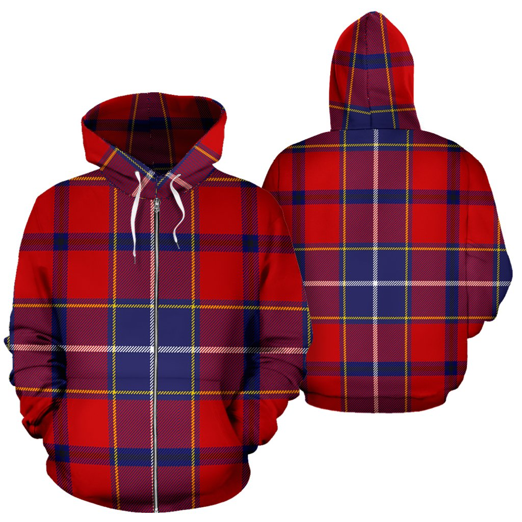 Wishart Dress Tartan All Over Zip Hoodie