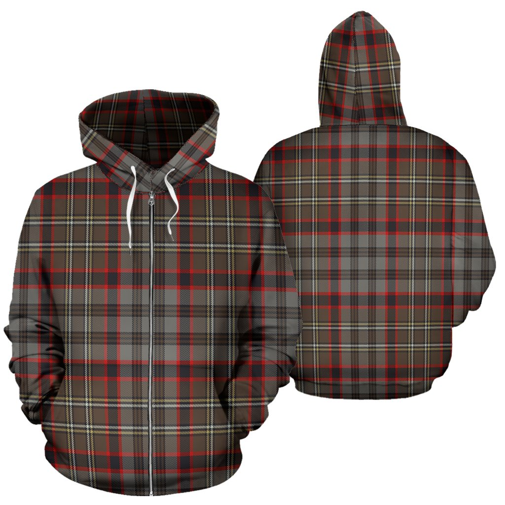 Nicolson Hunting Weathered Tartan All Over Zip Hoodie