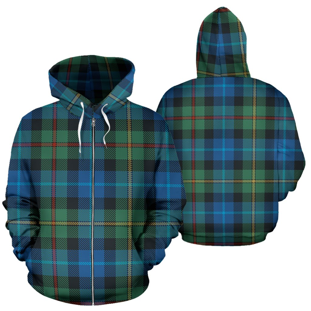 Smith Ancient Tartan All Over Zip Hoodie