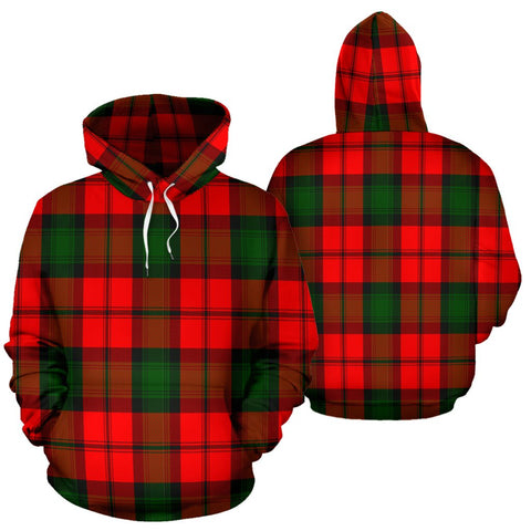 Image of Kerr Modern Tartan All Over Print Hoodie