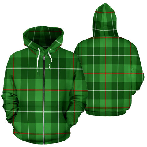 Image of Galloway District Tartan All Over Zip Hoodie