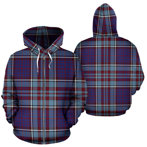 Image of RCAF Tartan Tartan All Over Zip Hoodie