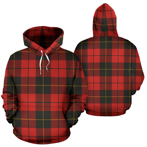 Image of Wallace Weathered Tartan All Over Print Hoodie