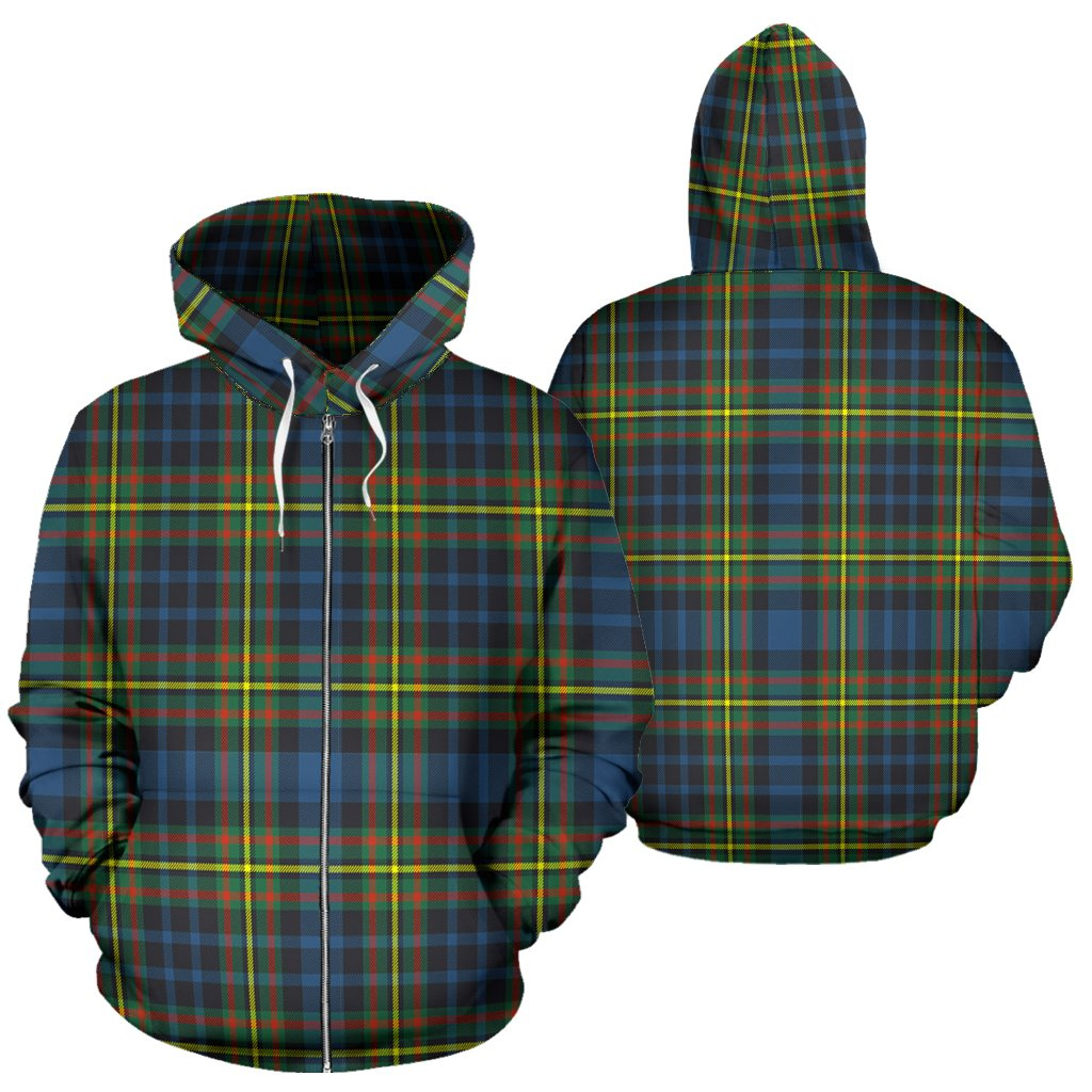 MacLellan Ancient Tartan All Over Zip Hoodie