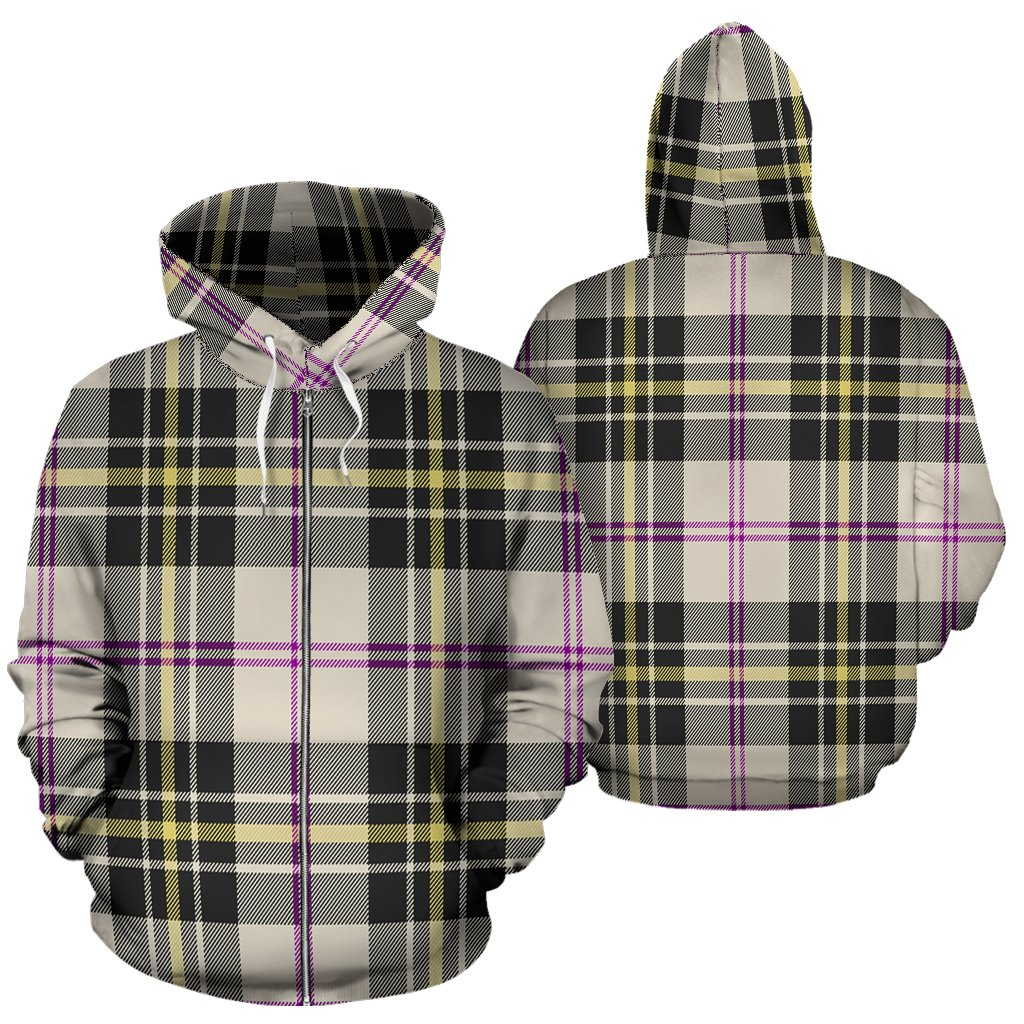 MacPherson Dress Ancient Tartan All Over Zip Hoodie