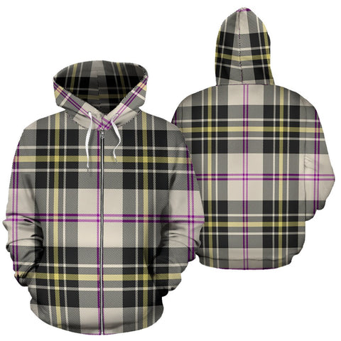 Image of MacPherson Dress Ancient Tartan All Over Zip Hoodie