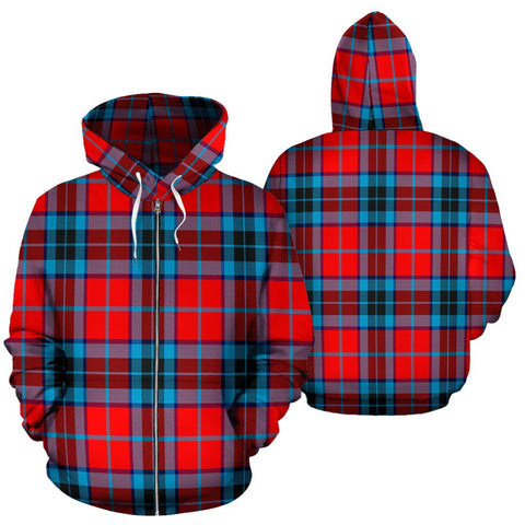 Image of MacTavish Modern Tartan All Over Zip Hoodie