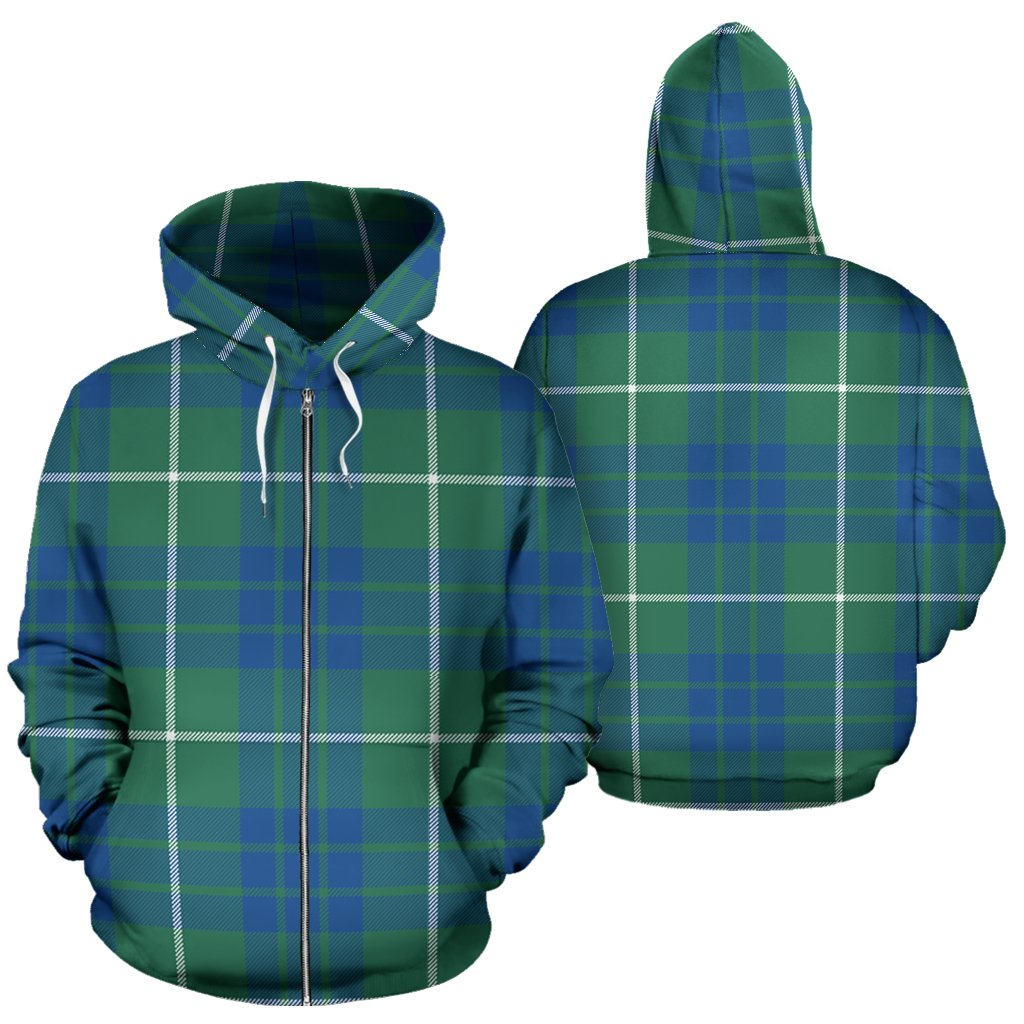 Hamilton Hunting Ancient Tartan All Over Zip Hoodie