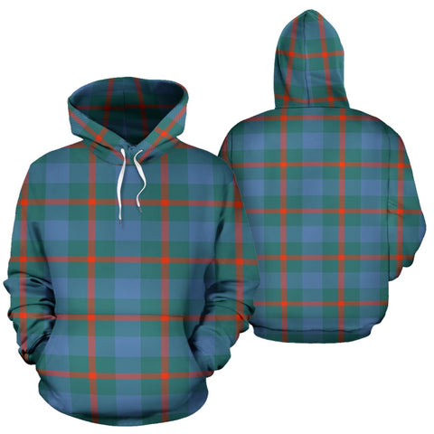 Image of Agnew Ancient Tartan All Over Print Hoodie