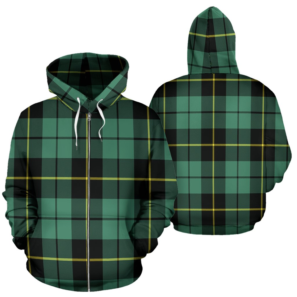Wallace Hunting Ancient Tartan All Over Zip Hoodie