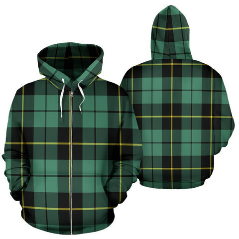 Image of Wallace Hunting Ancient Tartan All Over Zip Hoodie