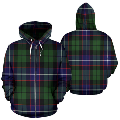 Image of Galbraith Modern Tartan All Over Zip Hoodie