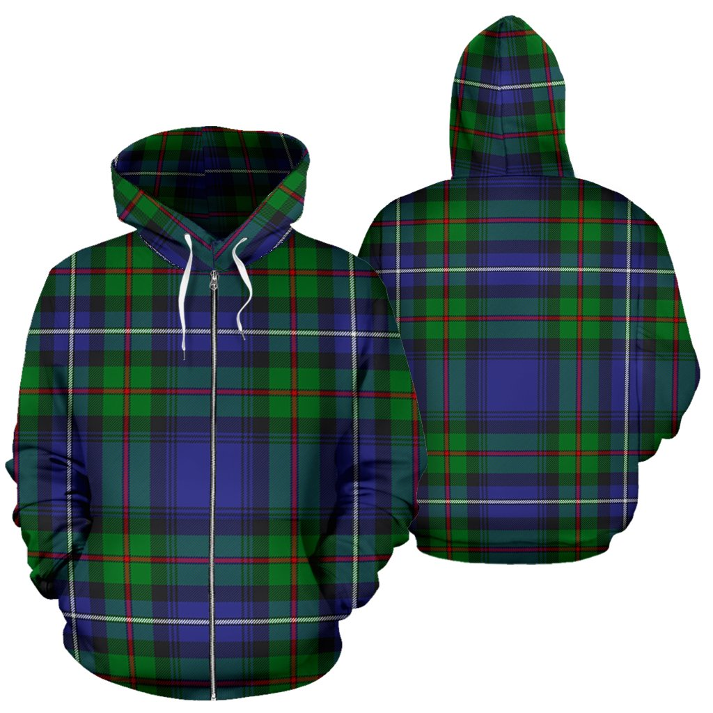 Robertson Hunting Modern Tartan All Over Zip Hoodie