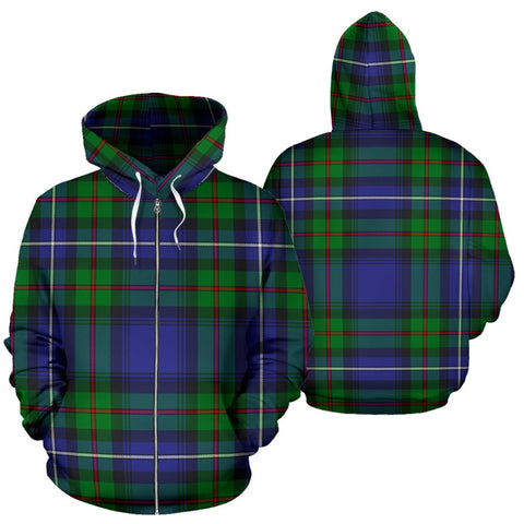 Image of Robertson Hunting Modern Tartan All Over Zip Hoodie