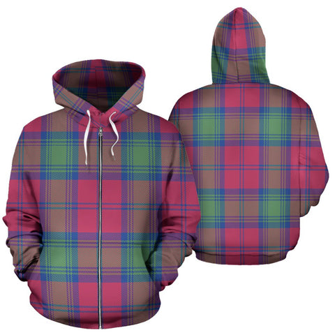 Image of Lindsay Ancient Tartan All Over Zip Hoodie