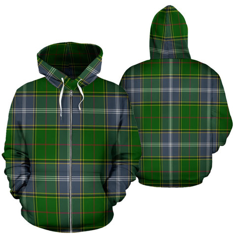 Image of Pringle Tartan All Over Zip Hoodie