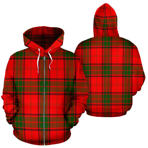 Image of Maxwell Modern Tartan All Over Zip Hoodie