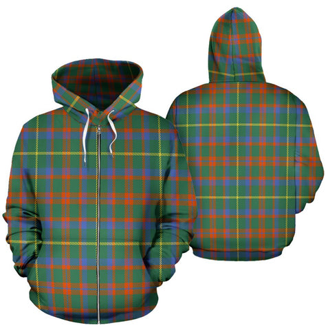 Image of MacKintosh Hunting Ancient Tartan All Over Zip Hoodie